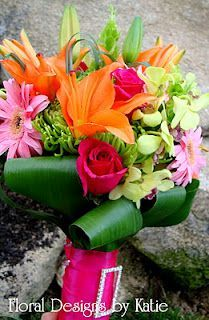 tropical flowers lime green and pink - Google Search