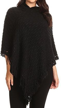 Product review for BNY Corner Women Plus Size Hoodie Crochet Lace Fringe Knit Pullover Poncho.  - Check out these new plus size asymmetrical crochet poncho with hoodie, finished with scalloped crochet lace trim and fringe trim on each side. Perfect for daily, casual, party, and office wear. Fit for all season, spring, Fall, summer and autumn. Plus Size women who love style and comfort. The...