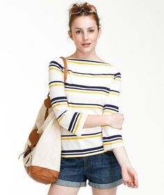 classic: Cotton Modal Boatneck from  L.L.Bean Signature