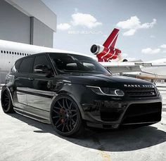 Black on Black Range Rover