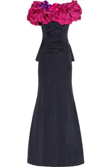 Silk-radzmir And stretch-crepe gown by Nina Ricci