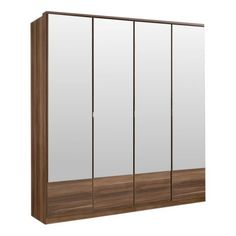 Imago 4 Door Mirrored Wardrobe – Next Day Delivery Imago 4 Door Mirrored Wardrobe from WorldStores: Everything For The Home Dunelm, Triple Wardrobe, Wooden Wardrobe, Mirrored Wardrobe, Mirror Door, Cupboard Design, Modern Sliding Doors, Oak Wardrobe, Hanging Rail