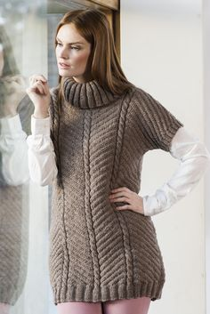 Nordic Yarns and Design since 1928 Coat Dress, Jacket Dress, Dark Winter, Pullover, Winter Jackets, Turtle Neck, Spring Summer, Knitting, Sweaters