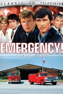 Emergency! Jan.15,1972 –  Sept.3,1977 .It was also the first show to feature paramedics who help rescue victimized or hurt patients.         Starring: Robert Fuller  Julie London  Bobby Troup  Randolph Mantooth  Kevin Tighe  Tim Donnelly  Mike Stoker  Marco Lopez  Michael Norell  Ron Pinkard