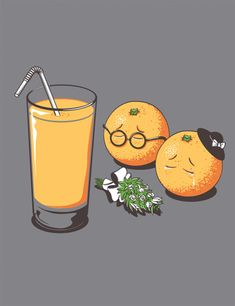 Orange-juiced ~ it is better to eat the fruit whole than to juice it.  too much concentrated sugars.  this is funny and appropo!  :)