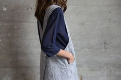 Grey Chambray Apron