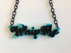 Acrylic Roller Derby Whip Me Necklace