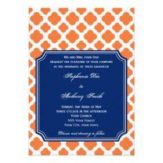 Royal Blue And Orange Wedding Invitations Orange and royal blue