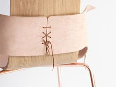 Made of leather and laces, tying a lace takes on new meaning in Martín Azúa's Shoemaker chair.