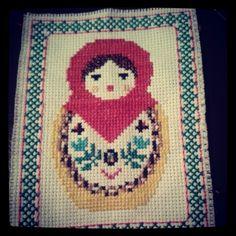 Russian doll cross stitch