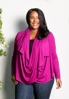 plus-size-fashion eternitywrapcardigan_pink