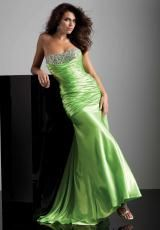 Mori Lee 93214.  Available in Flame, Lime, Purple