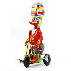 懐かしいブリキのおもちゃ!アヒル    #bird #toy #tin #TinToy #duck #torimizuki Tin Toys, Having A Baby, Tricycle, Bird, Birds, Birdwatching