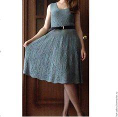 Купить Платье вязаное. - платье, платье вязаное, платье спицами, платье из льна, лен, пайетки