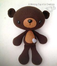 Huggable Bear and Koala amigurumi crochet pattern by A Morning Cup of Jo Creations Crochet Teddy, Love Crochet, Crochet For Kids, Crochet Toys, Knit Crochet, Amigurumi Patterns, Crochet Patterns, Teddy Bear Toys, Teddy Bears