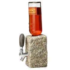 Let your juices flow from this sturdy stone drink dispenser.