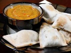 Spinach and Paneer Turnovers with Mango Basil Chutney