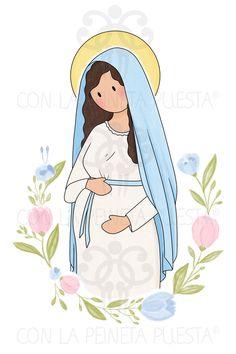 Virgencitas • Con la Peineta Puesta