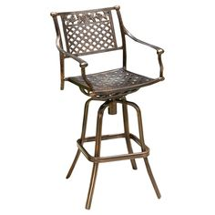 Enhance the appearance of your living space by choosing this Noble House Sebastian Swivel Aluminum Outdoor Bar Stool with Beige Cushion. Outdoor Bar Stools, Patio Dining Chairs, Patio Seating, Modern Dining Chairs, Swivel Bar Stools, Upholstered Dining Chairs, Eames Chairs, Bag Chairs, Aluminum Bar Stools