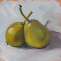 """""""Summer Pears"""" - Original Fine Art for Sale - © Claire Henning"""