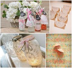 The secret weapon in your DIY wedding toolkit: Lace Paper Doilies and ideas to make doily chandeliers, doily wrapping paper, doily garlands