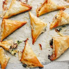 Melting cheese and fig filo parcels Vegetarian Starters, Vegetarian Pizza, Vegetarian Recipes, Fig Recipes, Cooking Recipes, Savoury Recipes, Filo Parcels, Waitrose Food, Filo Pastry
