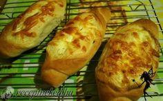 Fokhagymás-tejfölös bagett recept fotóval Food And Drink, Bread, Brot, Baking, Breads, Buns