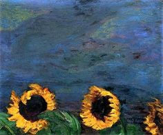 Blue Sky and Sunflowers by Emil Nolde - 1928
