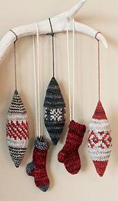 Ravelry: Little Sock Ornaments pattern by tincanknits