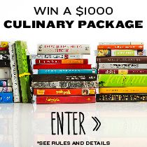 Go back to (cooking) school! Prize package includes $750 toward kitchen gear of your choice and a $250 collection of must-have cookbooks curated by Tasting Table and Kitchen Daily. Ready to learn something new? Enter now: tastingtable.com/school2014