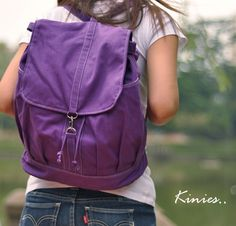 Love this - And the strap can be moved around so you can carry it all different ways!  (from Kinies on Etsy)