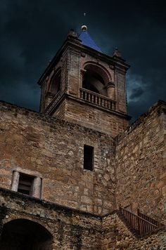 Storm over the Alcazaba, the Moorish castle that stands above the city of Antequera, Spain.