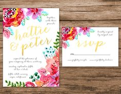 HELLO & Thanks for visiting my shop! >>> A B O U T ⋆ T H I S ⋆ L I S T I N G <<<  This suite includes:  - Invitation Card 5 x 7 - Response Card