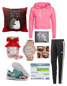 """I wish my Valentine's Day was like this"" by rhino1021 ❤ liked on Polyvore featuring мода, The Hampton Popcorn Company, Michael Kors, adidas, Only Play, women's clothing, women, female, woman и misses"