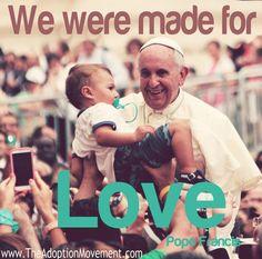 We were made for love.~Pope Francis  http://w2.vatican.va/content/francesco/en/encyclicals/documents/papa-francesco_20150524_enciclica-laudato-si.html… #Encyclical #Catholic #Catholics #Jesus #Environment #God