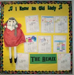 I Know an Old Lady Remix Bulletin Board. My younger kids love this song, so this is a great extension!