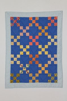 A charity babyquilt for early born baby, from Dorte Rasmussen`s quiltgroup DK