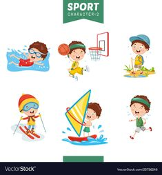 Sport character vector image on VectorStock Free Vector Images, Vector Free, Earth Day Pictures, Sports Day, English Classroom, Character Illustration, Cute Art, Adobe Illustrator, Homeschool