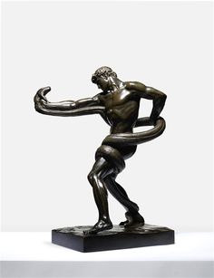 View An Athlete Wrestling A Python By Lord Frederic Leighton; bronze, on rectangular naturalistic base; Access more artwork lots and estimated & realized auction prices on MutualArt. Santa Barbara Museum, Global Art, Art Market, Python, Art Museum, Athlete, Lord, Auction, Bronze