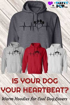 My Dog My Heartbeat Hoodie Gifts For Dog Owners, Dog Mom Gifts, Dog Lover Gifts, Dog Lovers, Dog Hoodie, Dog Shirt, Most Beautiful Dog Breeds, Black Cocker Spaniel, Dog Christmas Gifts