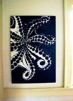 love this painting Octopus Painting, Octopus Art, Painting & Drawing, Octopus Legs, Drawing Drawing, Painting Inspiration, Art Inspo, Art Plastique, Amazing Art