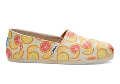 Orange you glad we made this print? With a citrus twist, these limited edition Classic Alpargatas are only available at TOMS.