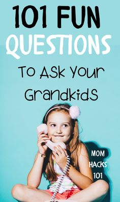 101 fun questions to ask kids to know them better! Great conversation starters to bond with your kids over dinner or a long car ride. Grandchildren, Grandkids, Granddaughters, Fun Questions For Kids, Silly Questions, Toddler Activities, Activities For Kids, Family Fun Games, Jokes For Kids
