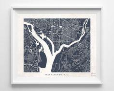 11x14, Navy, Washington DC   I think it'd be cute to hang DC and ATL a set