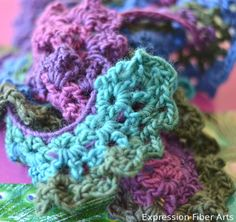 spiral crochet scarf pattern free *beautiful yarn makes a beautiful light-weight scarf <3