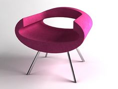 pink eye chair