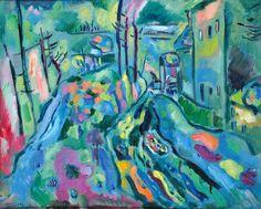 "Gennady Glakhteev "" Blue Spring "" 1972  49х60 Геннадий Глахтеев ""Голубая весна "" 1972  49х60"