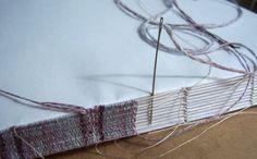 pamphlet - longstitch  woven spine