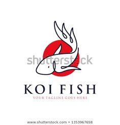 japanese koi fish logo with line art, monoline, outline concept design vector template illustration. Whale Logo, Fish Logo, Fish Wallpaper, Japanese Koi, Fish Illustration, Logo Line, Fish Art, Art Logo, Graphic Design Inspiration