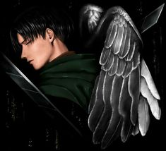 Levi ackerman angel(?)